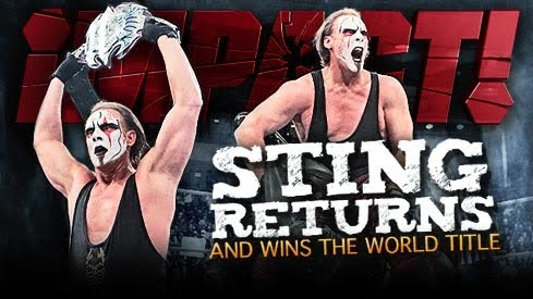 Sting captures the TNA World Heavywight Title