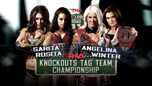 TNA Knockouts Tag-Team Title Match: Sarita & Rosita vs. Angelina Love & Winter