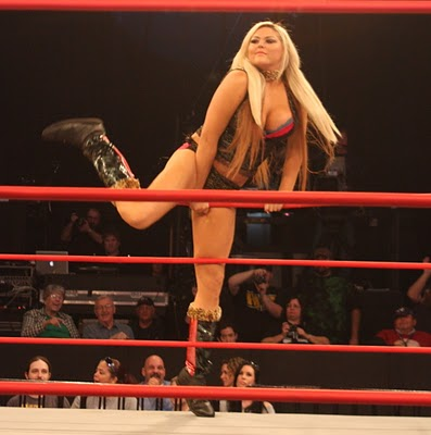 Isis the Amazon at her recent TNA Tryout