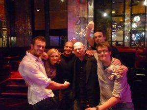 From right to left: Magnus, Laura Doyle, Johnny Moss, Steve Lynsky (back), Ryan Horrocks, Mark Ashworth (back), Sam Ibby.