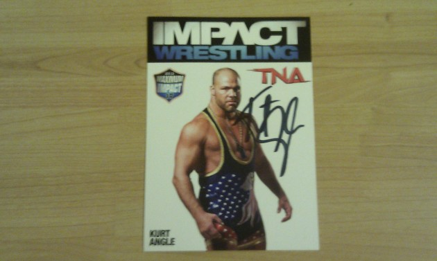 TNA UK Exclusive Competition: Win Limited Edition Maximum Impact Tour 2012 Card, signed by Kurt Angle!